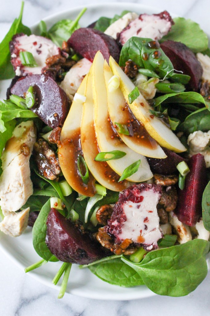 Grilled Chicken Salad with Goat Cheese, Roasted Beets, & Orange ...