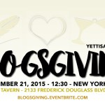 Currently: 10/27 + BLOGSGIVING Event
