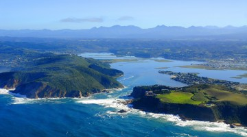 Knysna South Africa The Heads aerial view from sea