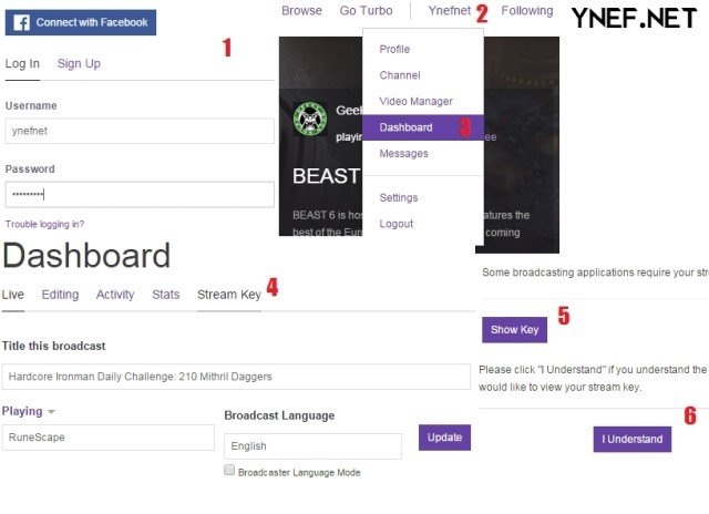 How to get Stream Key from Twitch.TV and stream on Twitch using obs