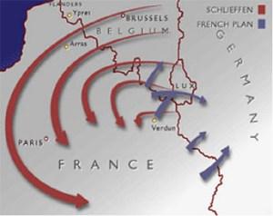 Mapa Schlieffen Plan