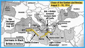 Persecución del Goeben y  Breslau.
