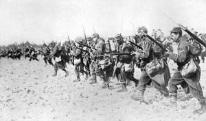 Carga de bayoneta francesa.