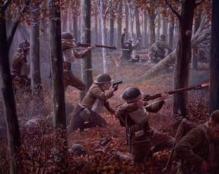 Ilustración de la batalla