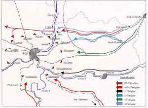 mapa invasión de Lieja