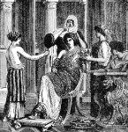 Mujeres romanas maquillando a la Domina