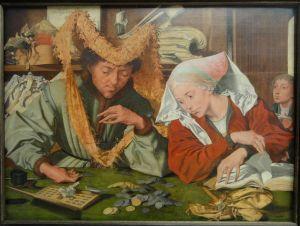 El cobrador de impuestos y su esposa. (Marinus van Reymerswale).