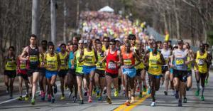 Corredores en el Maratón de Boston