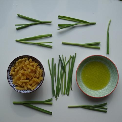 Italienisch & vegan: Nudeln aglio olio mit frischem Knoblauch