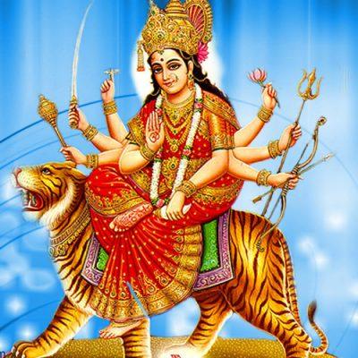 Navaratri - das Fest der Devi beginnt mit Durga/Kali, sie vertreiben die Finsternis