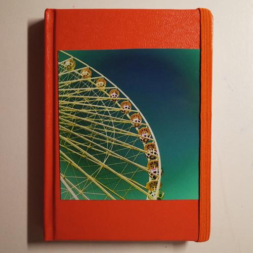 Lebensfreue TAGEBUCH yoga diary, A6 Notizbuch in orange