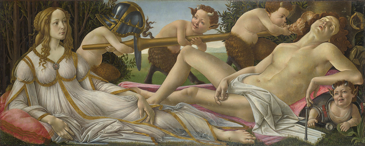 """Venus and Mars National Gallery"" by Sandro Botticelli - National Gallery, UK. Licensed under Public Domain via Wikimedia Commons."