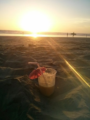 Pina Colada à la plage Costa Rica
