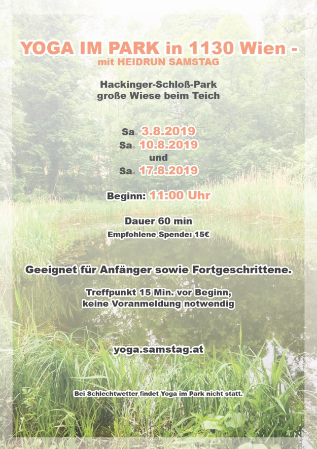 Yoga im Park WEB Flyer für Websites