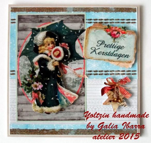 Christmas card, tarjeta de Navidad, kesrtkaartje