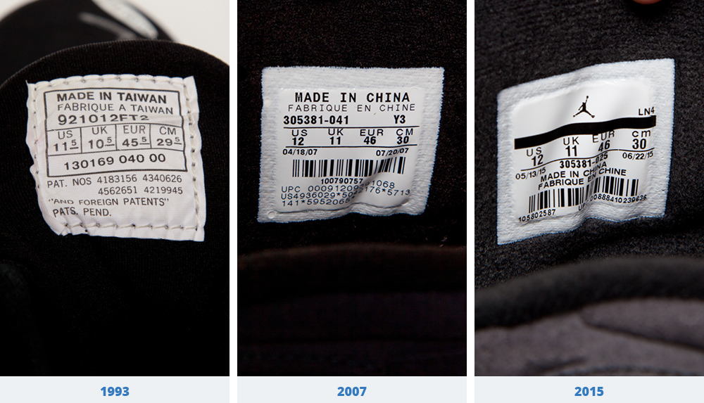 where are air jordans made in china