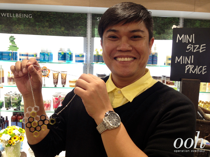 Operation Overhaul for The Body Shop - Zahri with his DIY Necklace