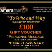 £100 Personalised Voucher