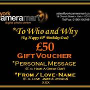 £50 Personalised Voucher