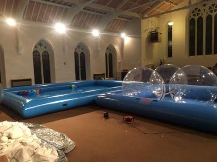 Zorb Pool Fun