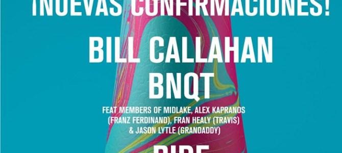 Bill Callahan, el supergrupo BNQT y Ride, nuevas incorporaciones al cartel de BIME Live.