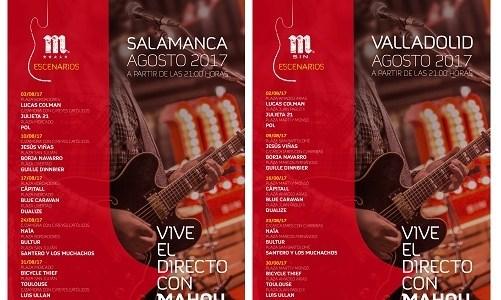 Agenda Agosto Escenarios Mahou Salamanca y Valladolid