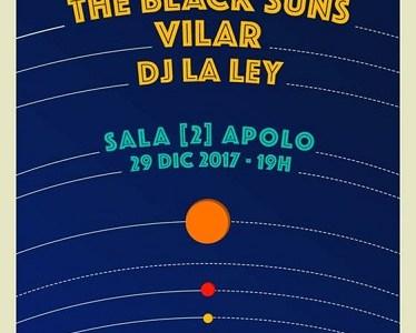 SORTEAMOS DOS ENTRADAS DOBLES para el concierto de THE BLACK SUNS y VILAR el 29 de Diciembre en la [2] de Apolo.