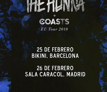 THE HUNNA y COASTS, en Barcelona y Madrid en febrero.