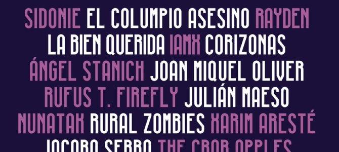 Cartel definitivo del LET'S FESTIVAL de Barcelona