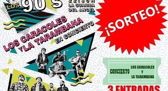¿Quieres ir por la cara al CONCIERTO de Los Caracoles y La Tarambana del vienes 1 de junio en JEREZ?