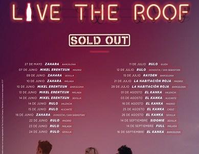 LIVE THE ROOF agota entradas para 26 conciertos en menos de un mes.
