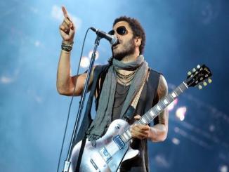 Lenny Kravitz Durante Su Actuación En Rock In Rio Madrid 2012