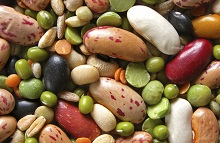 close up of dried legumes and cereals