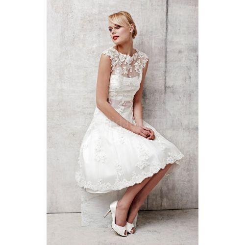 Medium Crop Of Short Sleeve Wedding Dress