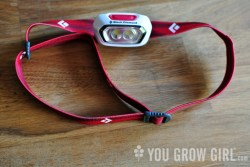 a headlamp for gardening after dark