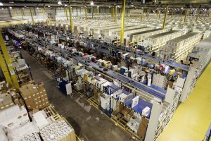 The Amazon distribution centre in Gourock.