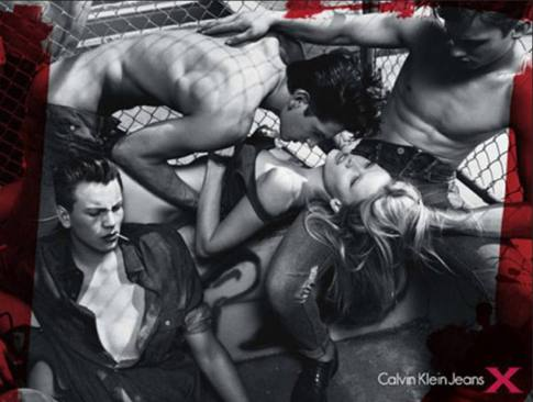 This Calvin Klein ad received criticism for promoting rape culture.