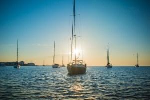 Yachts Off the Coast of Lovely Ibiza