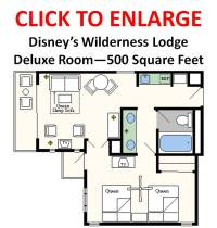 In Contrast  Wilderness Lodge Deluxe Rooms Hold 6 People In 500 Square