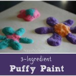 3 Ingredient Puffy Paint Recipe for Kids