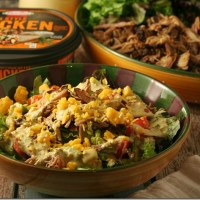 Mexican Chopped Salad and Creamy Cilantro Lime Dressing with ready-to-go proteins