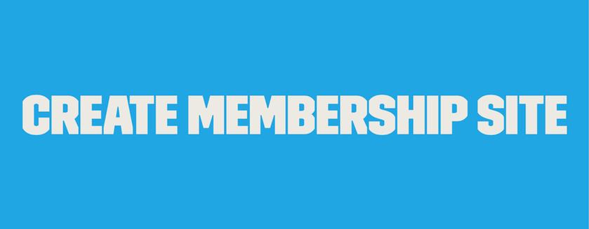 Create-Membership-Site