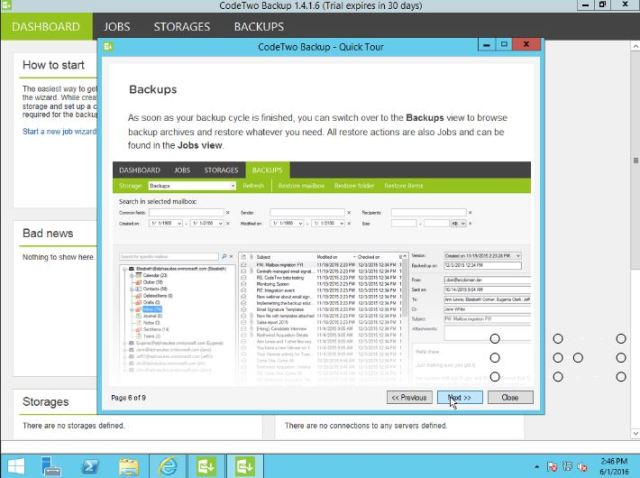 Office 365 CodeTwo Backup3