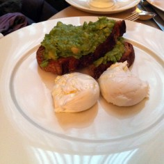 Avocado on toast with poached eggs at Berners Tavern   ytTastes   Yvanne Teo