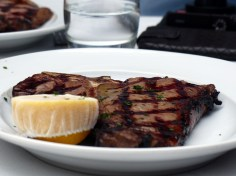 chargrilled T-bone steak served with homemade chips | Olivocarne | Yvanne Teo