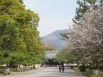 京都御所から見た大文字山