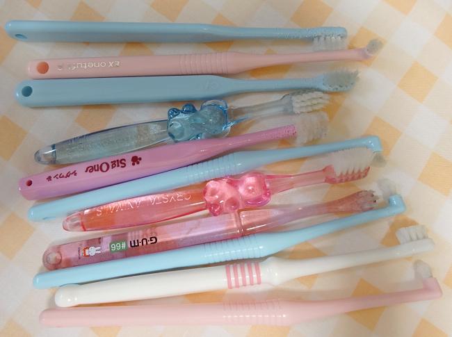 今まで使ってきた諭吉たちの歯ブラシ