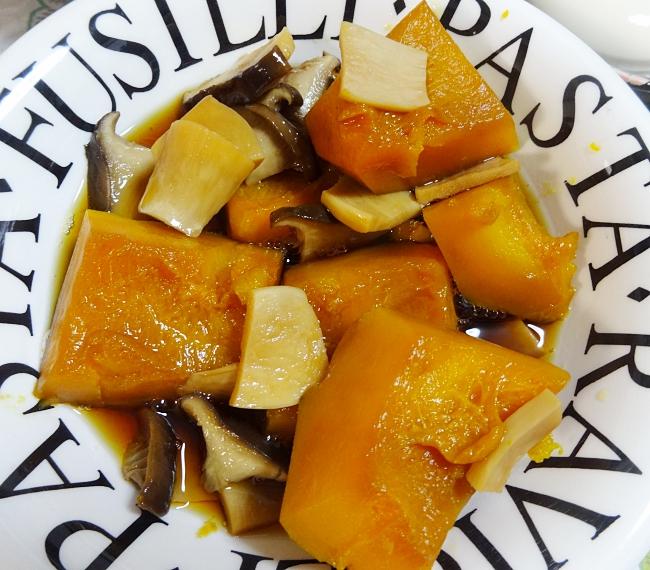 staub(ストウブ)かぼちゃとエリンギの煮物、出来上がり