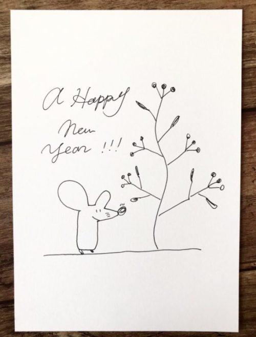 ネズミ イラスト 簡単 手書き