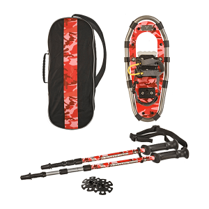 Yukon Charlie's Junior Series Snowshoe Kit for Kids: Red